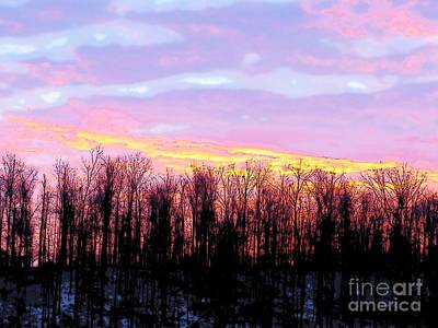 Digital Art - Sunrise Over Lake by Craig Walters