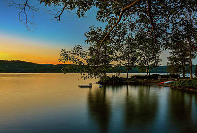 Sunrise Over Lake George Art Print by Mac Titmus