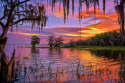 Photograph - Sunrise Over Lake Istokpoga In Lake Placid, Florida by Justin Kelefas