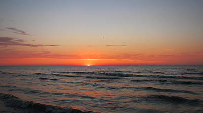 Photograph - Sunrise Over Lake Michigan by Denise   Hoff