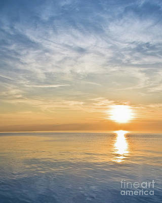 Photograph - Sunrise Over Lake Michigan In Chicago by David Levin