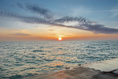 Photograph - Sunrise Over Lake Michigan by Peter Ciro