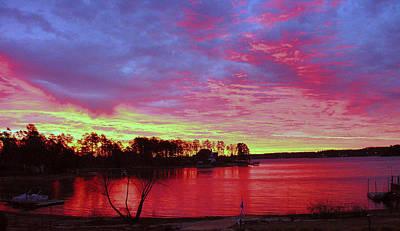 Sunrise Over Lake Murray Art Print