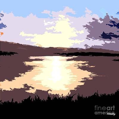 Ireland Painting - Sunrise Over Lake by Patrick J Murphy