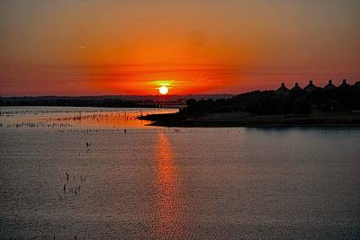 Art Print featuring the photograph Sunrise Over Lake Ray Hubbard by Diana Mary Sharpton