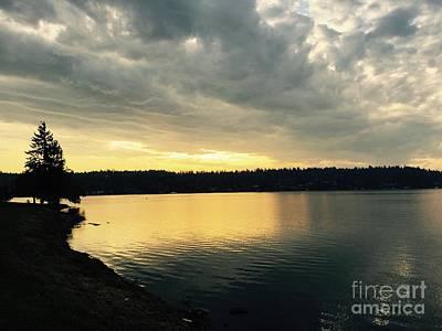 Photograph - Sunrise Over Lake Washington by LeLa Becker