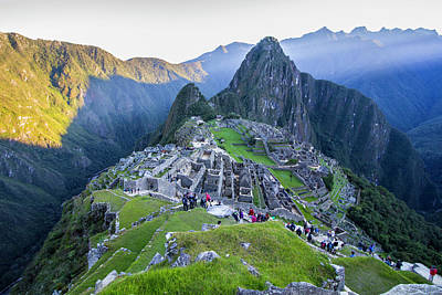 Photograph - Sunrise Over Machu Picchu, Peru by Venetia Featherstone-Witty