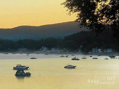 Sunrise Over Malletts Bay Panorama - Nine V2 Detail Art Print by Felipe Adan Lerma