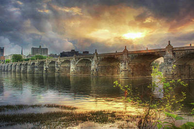 Susquehanna River Photograph - Sunrise Over Market by Lori Deiter