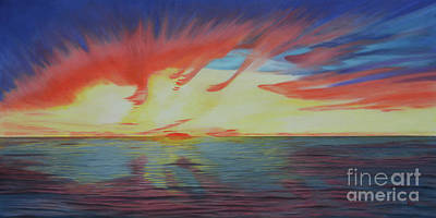 Painting - Sunrise Over Matagorda Bay by Jimmie Bartlett