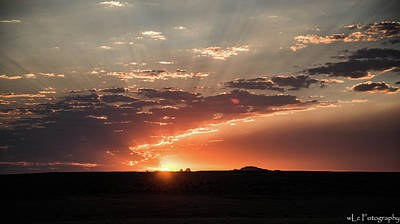 Photograph - Sunrise Over Moah, Ut by Wendy Carrington