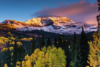 Photograph - Sunrise Over Mount Owen by John De Bord