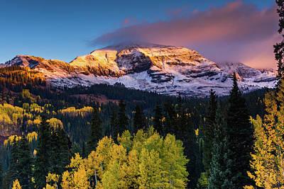 Photograph - Sunrise Over Mount Owen by John De Bord