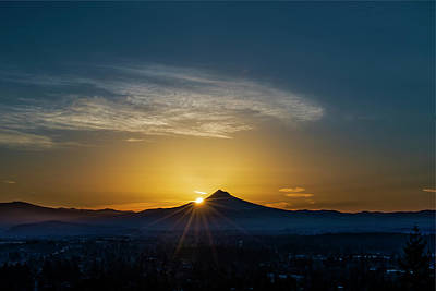 Photograph - Sunrise Over Mt. Hood by Ken Aaron