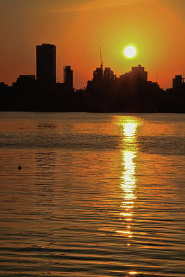 Photograph - Sunrise Over N Y C by Allen Beatty