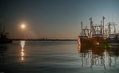 Digital Art - Sunrise Over New Bedford, by Ed Cabral