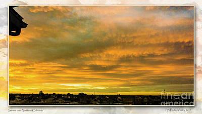 Digital Art - Sunrise Over Northern Colorado by Deborah Nakano