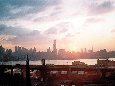 Painting - Sunrise Over Nyc by Paul Sachtleben