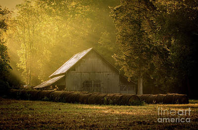 Photograph - Sunrise Over Old Barn by Christopher L Nelson