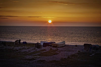 Photograph - Sunrise Over Pakefield. Beach by Ralph Muir
