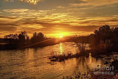 Photograph - Sunrise Over  Payette River by Robert Bales