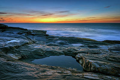 Photograph - Sunrise Over Pemaquid Point by Rick Berk