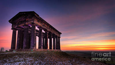Hephaestus Wall Art - Photograph - Sunrise Over Penshaw Monument No. 1 by Phill Thornton