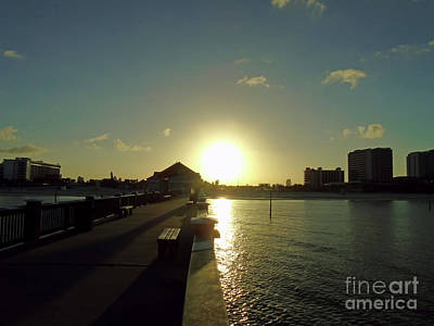 Photograph - Sunrise Over Pier 60 by D Hackett
