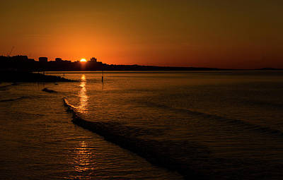 Photograph - Sunrise Over Poole Bay by Steven Poulton