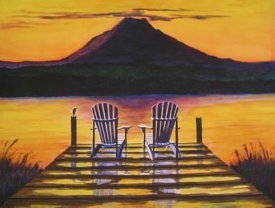 Sunrise Over Rainier Original