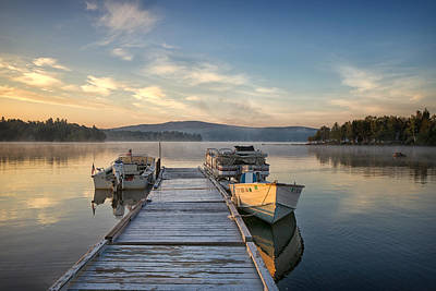Photograph - Sunrise Over Rangeley Lake by Darylann Leonard Photography
