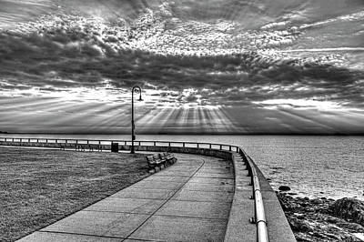 Photograph - Sunrise Over Red Rock Park Lynn Ma Black And White by Toby McGuire