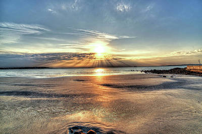 Photograph - Sunrise Over Red Rock Park Lynn Ma Kings Beach by Toby McGuire