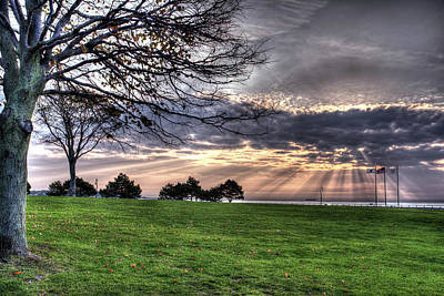 Photograph - Sunrise Over Red Rock Park Lynn Ma Tree by Toby McGuire