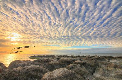 Photograph - Sunrise Over Rocky Shoal Of Key West by Scott Bert