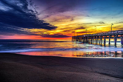 Photograph - Sunrise Over Sandbridge by Pete Federico