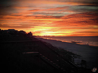 Animals Royalty-Free and Rights-Managed Images - Sunrise Over Santa Rosa Beach by Elie Wolf