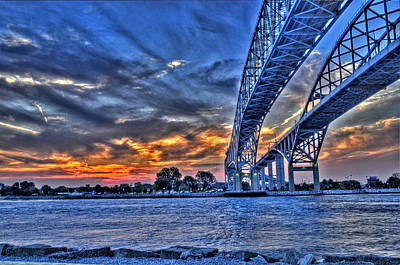 Port Huron Photograph - Sunrise Over Sarnia by Don McBride
