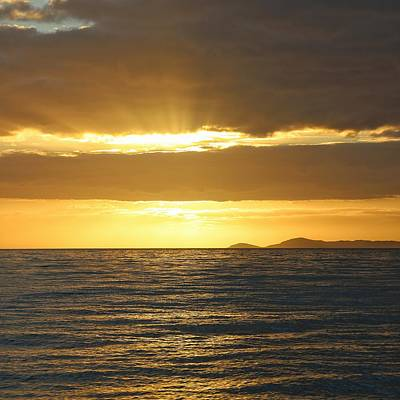 Photograph - Sunrise Over Sea Near Townsville by Keiran Lusk