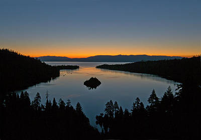 Sunrise Over South Lake Tahoe - Emerald Bay Art Print by Brendan Reals