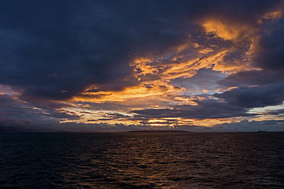 Photograph - Sunrise Over Strait Of Georgia by Inge Riis McDonald