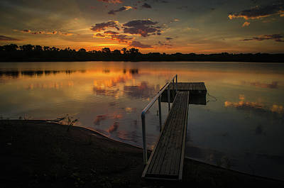Photograph - Sunrise Over Stuber's Dock by Jeff Phillippi