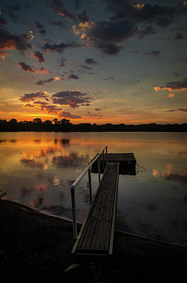 Photograph - Sunrise Over Stuber's Dock V by Jeff Phillippi