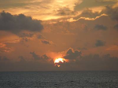 Photograph - Sunrise Over The Atlantic by Ron Davidson