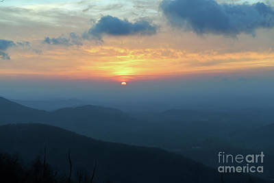 Photograph - Sunrise Over The Blue Ridge Mountains by Kerri Farley