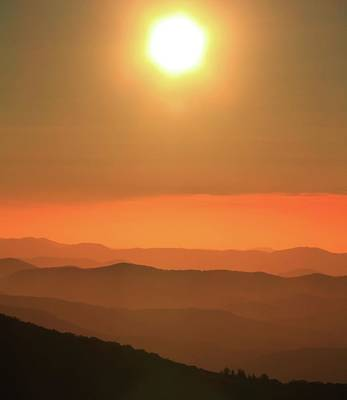 Outerspace Patenets Rights Managed Images - Sunrise Over The Blue Ridge Parkway Royalty-Free Image by Dan Sproul