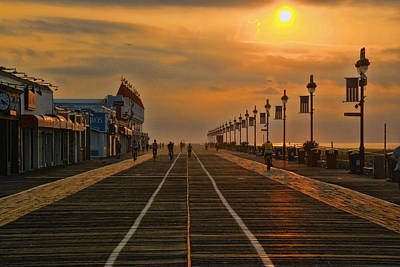 Photograph - Sunrise Over The Boardwalk by Allen Beatty