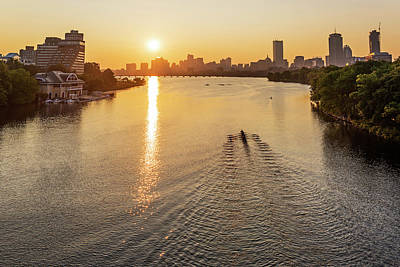 Photograph - Sunrise Over The Charles River Boston Ma by Toby McGuire