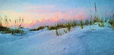Sunrise Over The Dunes Of South Walton Art Print by JC Findley