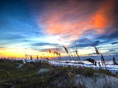 Photograph - Sunrise Over The Dunes by Terry Shoemaker